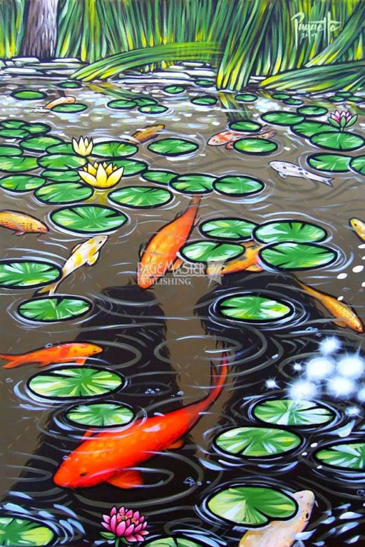 Koi Pond by Aaron Paquette on PageMaster Publishing