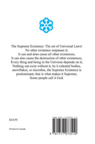 Back Cover of the The Supreme Existence: Conclusions Volume III by Arthur Thormann