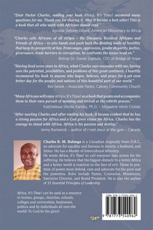 africa, it's time by charles balenga back cover