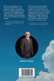 Back Cover of Thoughts on Thinking by Brian Hesje