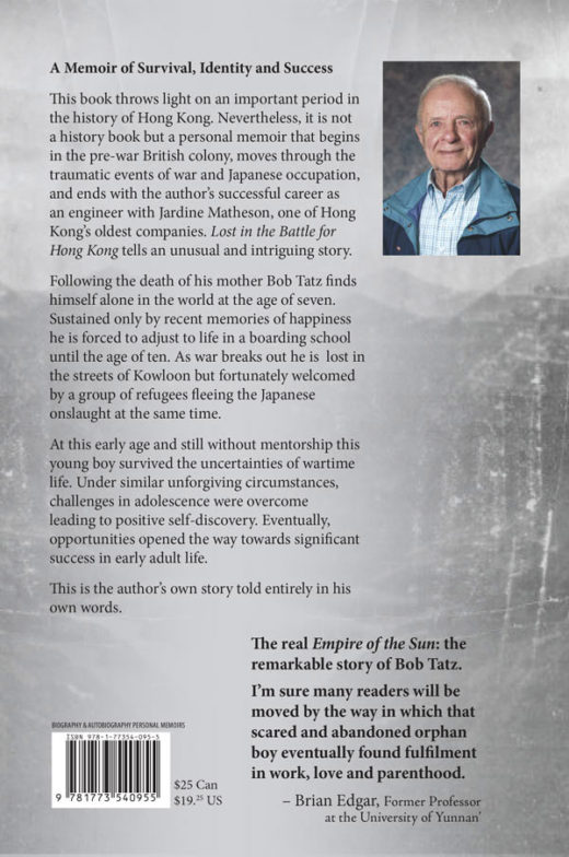 Lost in The Battle for Hong Kong by Bob Tatz Back Cover