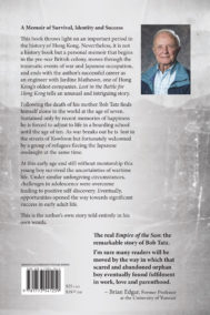 Back Cover of Lost in the Battle for Hong Kong by Bob Tatz