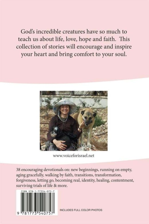 devotionals for the animal lover's heart by hannah nesher back cover