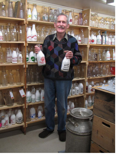 Dairy Bob Snyder with collection