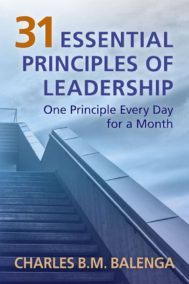 Front cover of 31 Principles of Leadership, by Charles B.M. Balenga
