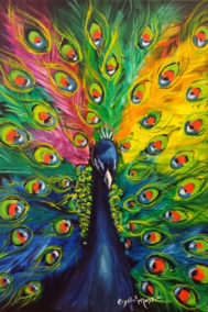 Painted Peacock by Crystal Fisher on PageMaster Publishing