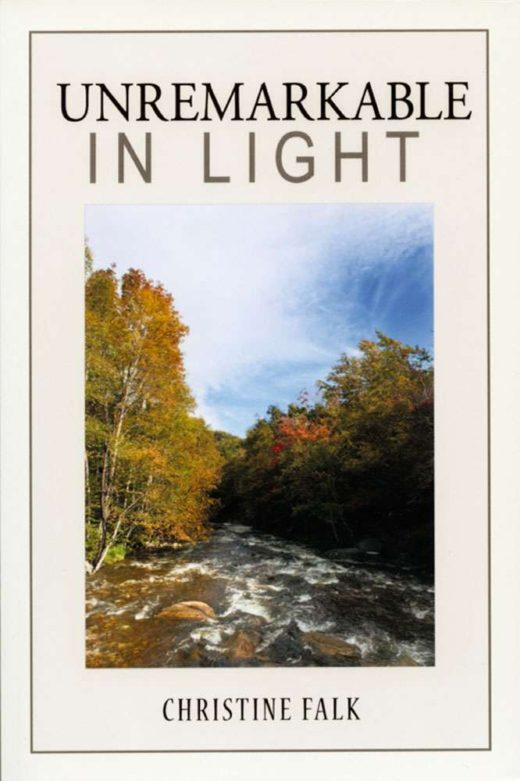 The front cover of Unremarkable in Light, by Christine Falk