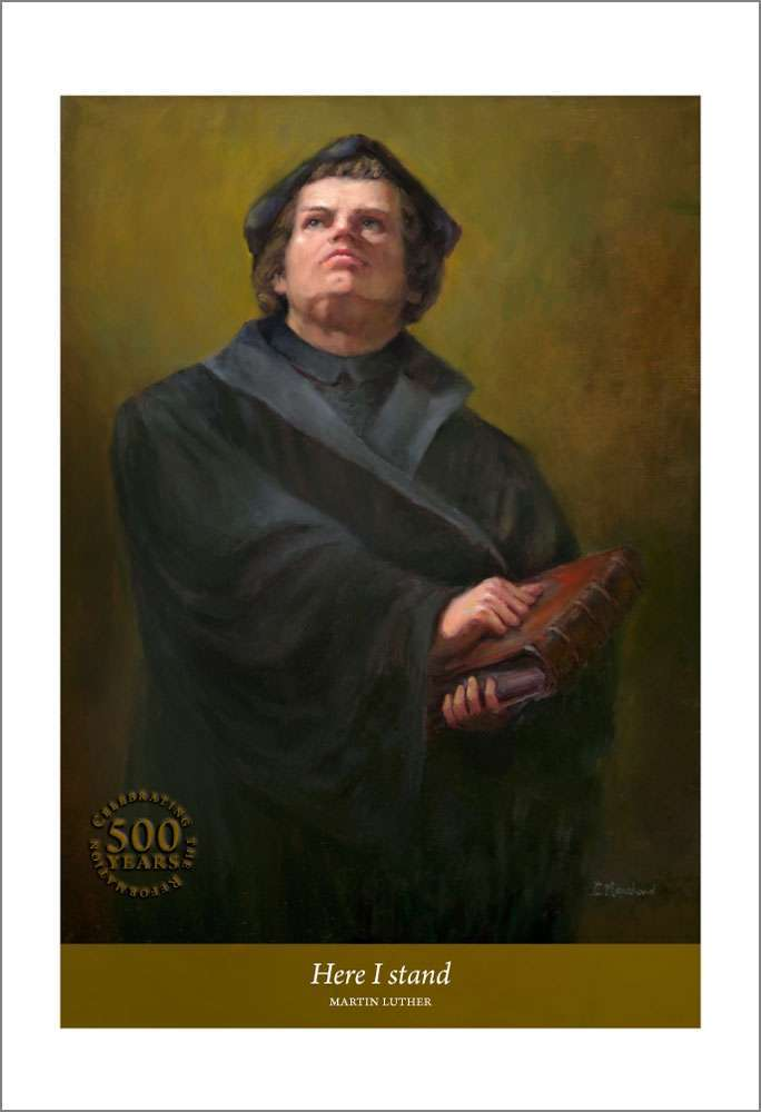 Here I Stand, Martin Luther portrait by Cathrine Marchand
