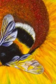 Sunny Bee Diptych by Debbie Lemoine on PageMaster Publishing