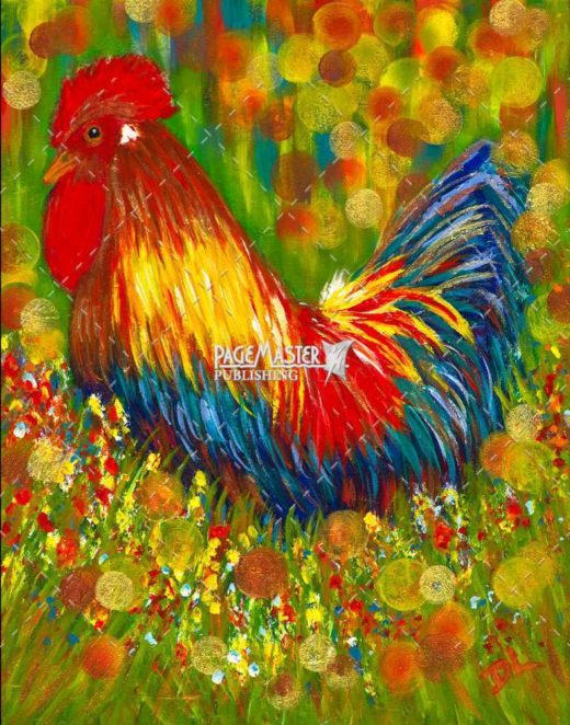 Large Rooster by Debbie Lemoine on PageMaster Publishing