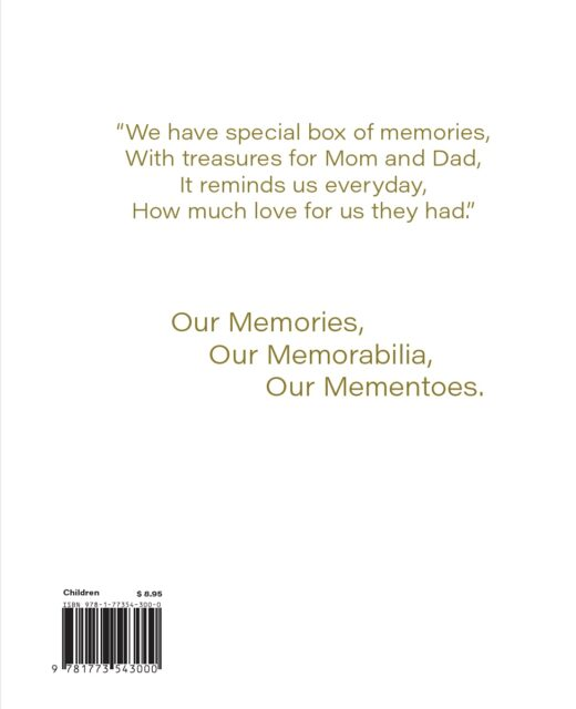 back cover of special box of memories by Liam, Alexia, and Sophia Helie