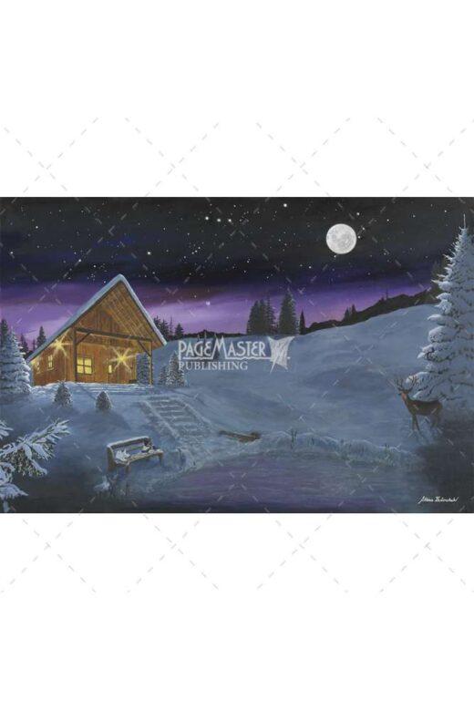painting of magenta and moonlight by ettina fedorchuk