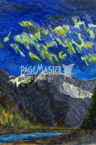 Aurora Mountain Delight by Elaine Tsuruda pointillism art print
