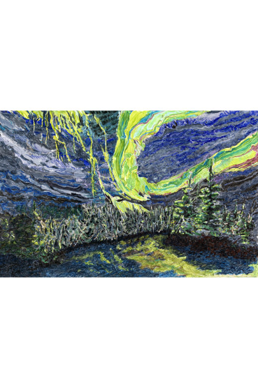 Aurora by Elaine Tsuruda pointillism art print