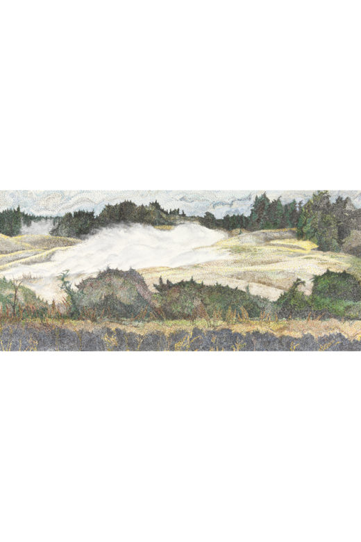 Autumn Fall by Elaine Tsuruda pointillism art print