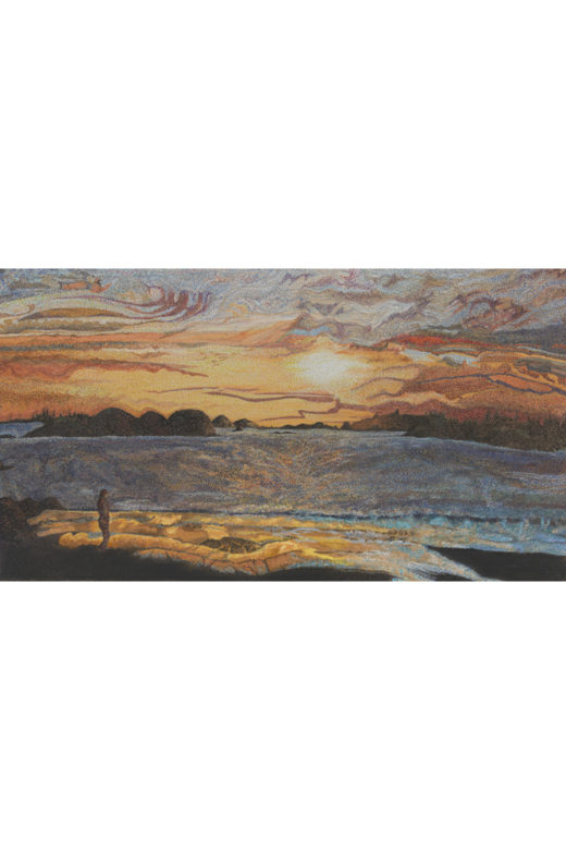 Cool Night Sunset by Elaine Tsuruda pointillism art print