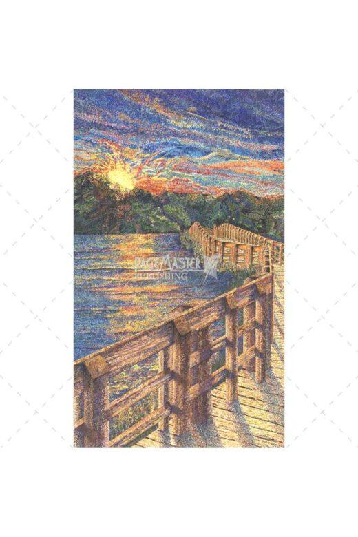 Hiker's Delight by Elaine Tsuruda pointillism art print