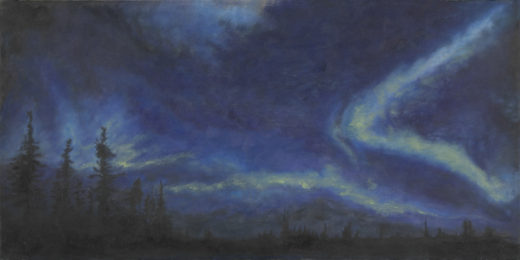 New Horizons by Elaine Tsuruda pointillism art print