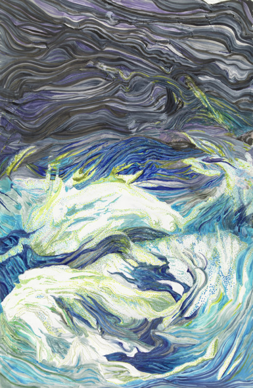 Splash by Elaine Tsuruda pointillism art print