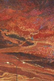 Sunday Drive Sunset by Elaine Tsuruda pointillism art print