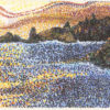 Sunset Waters by Elaine Tsuruda pointillism art print