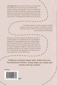 Back Cover of All Mapped Out by Edmonton Writer's Group