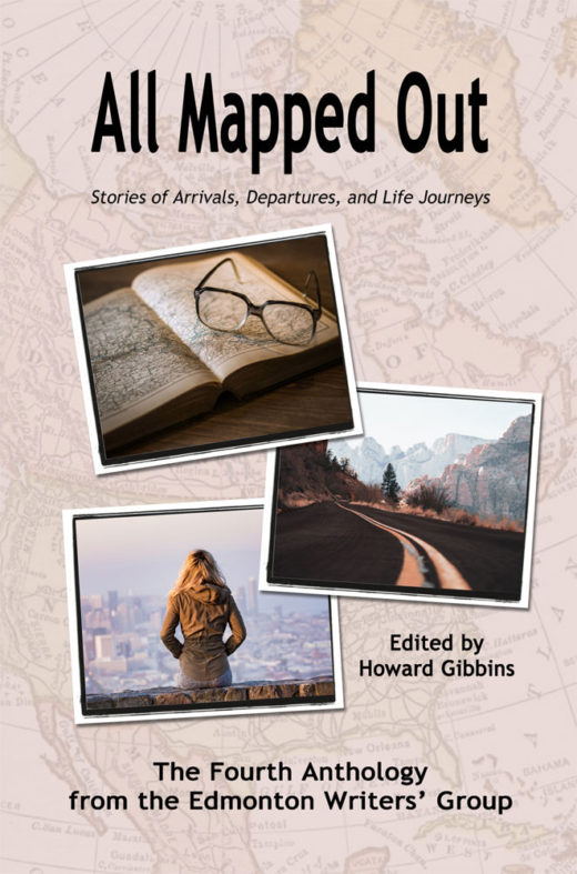 front cover of all mapped out by edmonton writers'group
