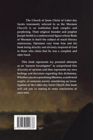 Back Cover of My Ten Year Investigation of the Mormon Church by Glenn Gray