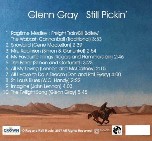 Still Pickin' By Glenn Gray Back Cover