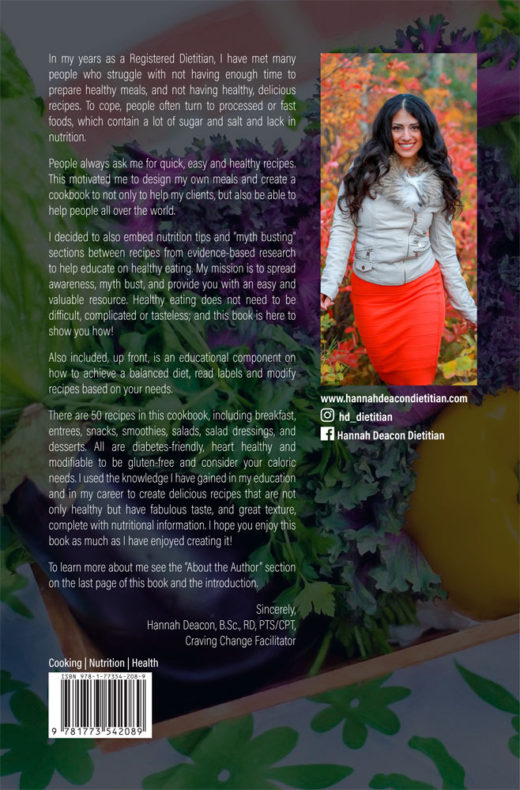 back cover of wellness on a plate by hannah deacon
