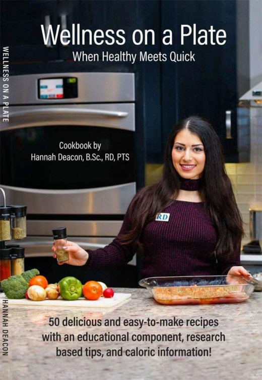 front cover of wellness on a plate by hannah deacon
