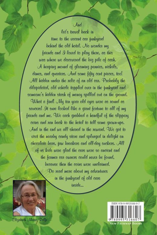 The back cover of My Story: A Memoir of Love and Transformation, by Elizabeth Rolfe