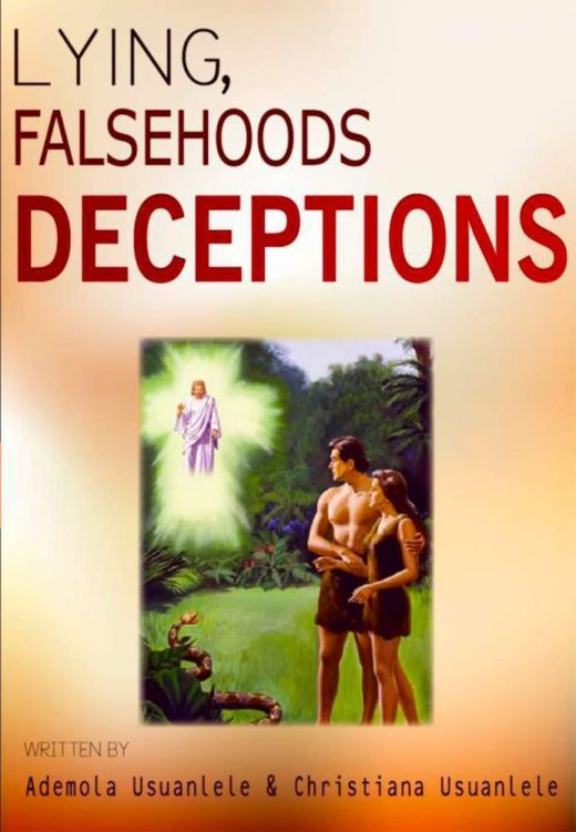 The front cover of Lying, Falsehoods and Deceptions, by Ademola and Christiana Usuanlele