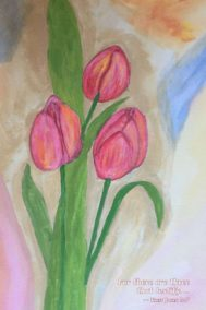 tulips- journal by martina keast front cover