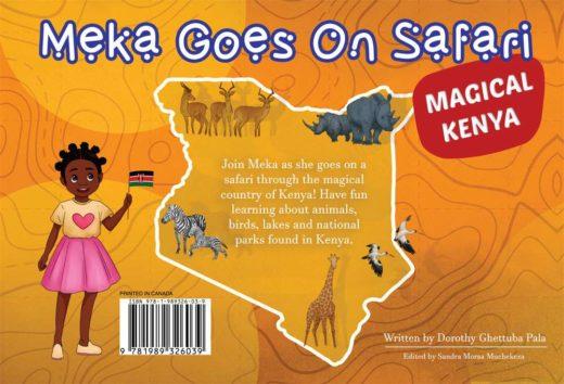 meka goes on safari by asili kids back cover