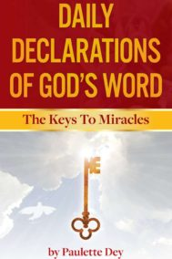 The front cover of Daily Declarations of God's Word, by Paulette Dey