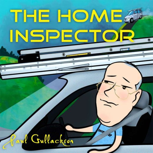 """The front cover of """"The Home Inspector"""" by Paul Gullackson"""