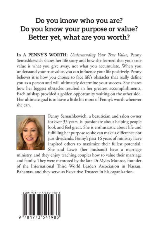 back cover of a penny's worth by penny semashkewich