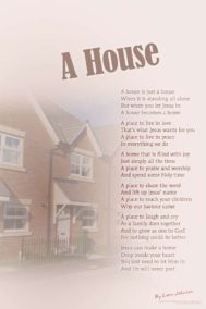 A House poster by poet Lorn Johnson