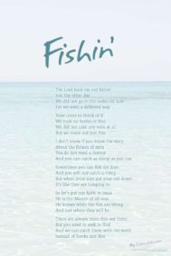 Fishin' poster by poet Lorn Johnson