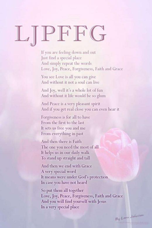 LJPFFG poster by poet Lorn Johnson