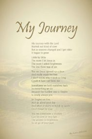 My Journey poster by poet Lorn Johnson