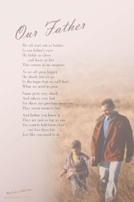 Our Father poster by poet Lorn Johnson