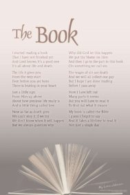 The Book poster by poet Lorn Johnson