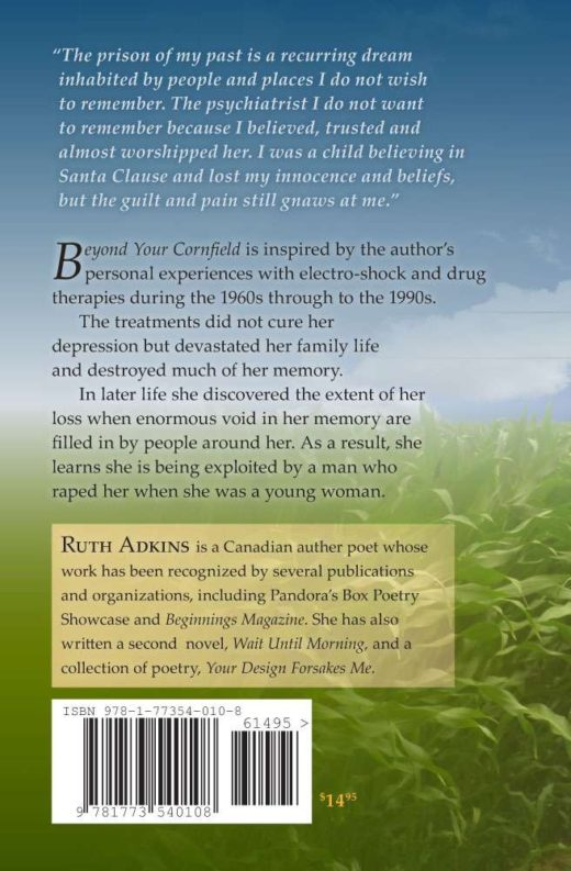 The back cover of Beyond Your Cornfield