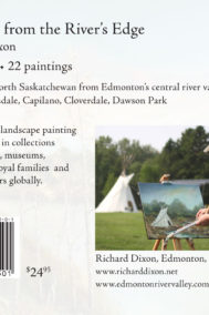 Back Cover of Paintings from the River's Edge by Richard Dixon
