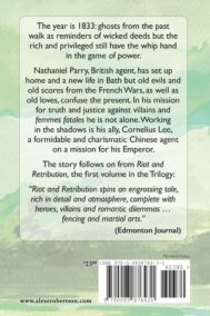 The back cover of Napoleon's Gold - The Wages of Sin, by Alex Robertson