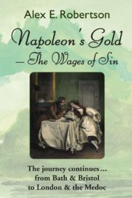 The front cover of Napoleon's Gold - The Wages of Sin, by Alex Robertson