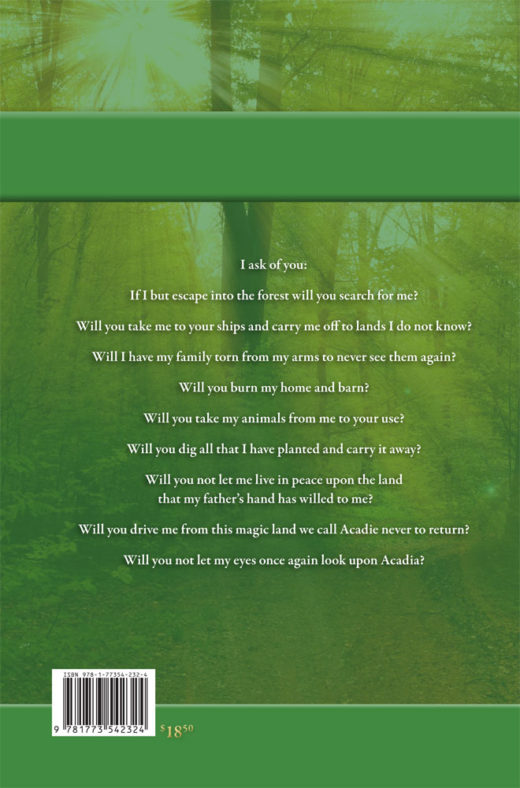 back cover of escape into the forest by roger lambert