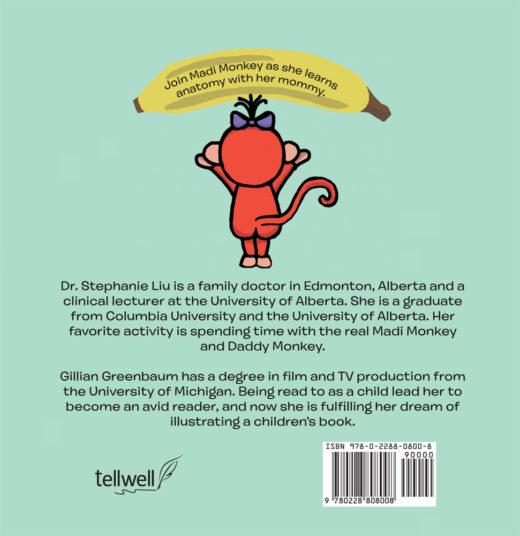 back cover of madi monkey learns the body by stephanie liu